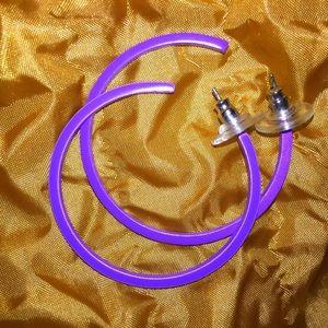 Jewelry - Vintage 80's Ladies Hoop Earrings